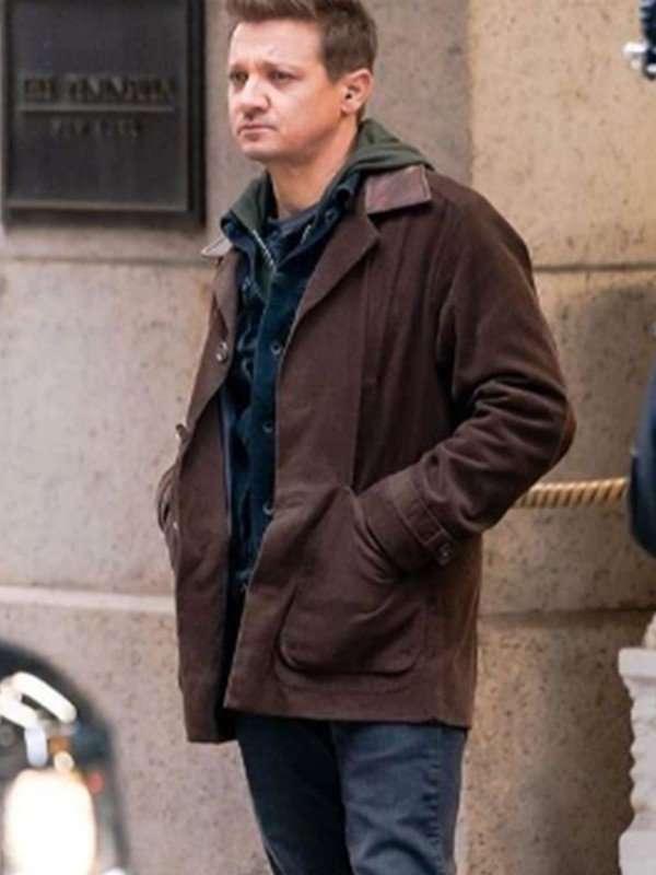 Jeremy Renner Hawkeye 2021 Brown Jacket