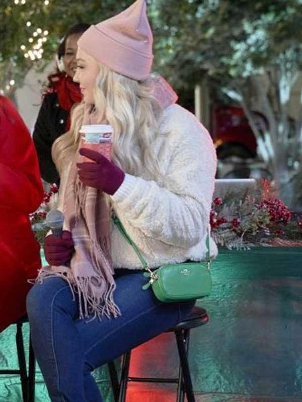 Jessy Schram A Nashville Christmas Carol White Sherpa Jacket