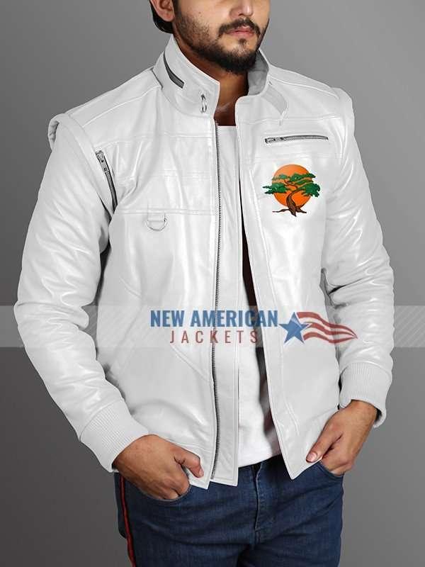 Karate Kid Miyagi Do Leather White Jacket