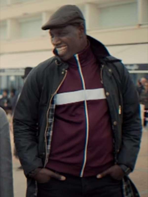 Omar Sy Lupin Fur Collar Jacket