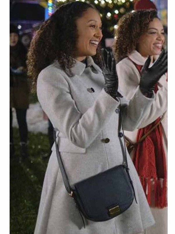 Tamera Mowry Housley Christmas Comes Twice Coat