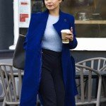 The Princess Switch Switched Again Vanessa Hudgens Blue Wool Coat