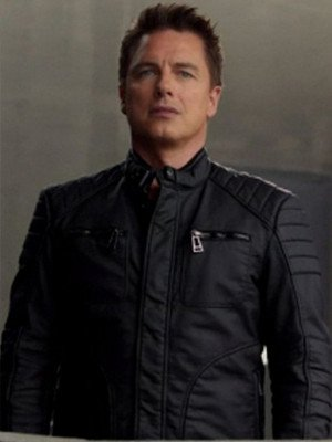 Malcolm Merlyn Arrow Black Leather Jacket