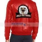 Cobra Kai Eagle Fang Karate Red Leather Jacket
