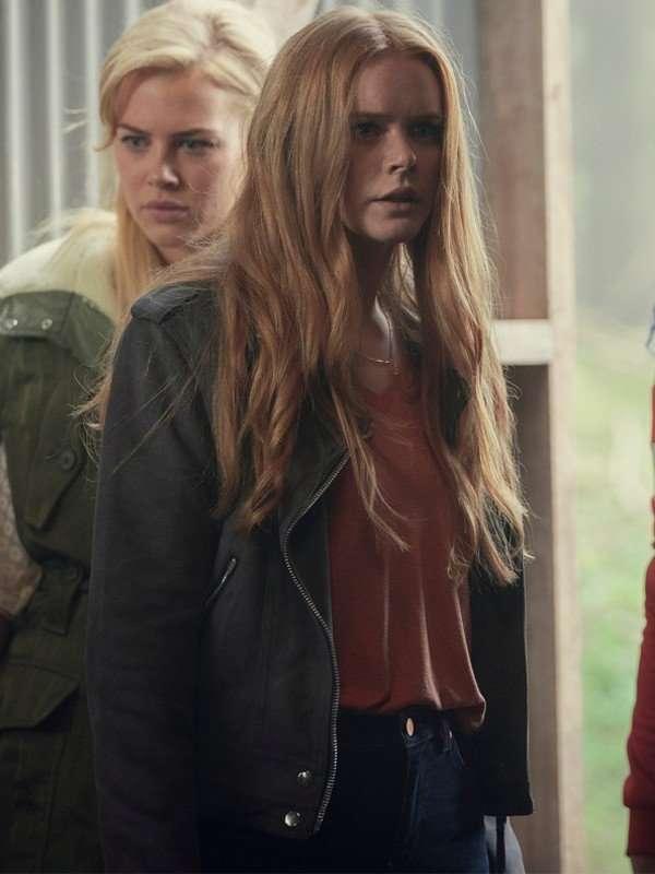 Fate The Winx Saga Abigail Cowen Black Suede Leather Jacket