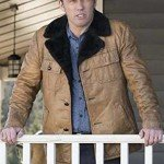 Jeffrey Donovan Brown Shearling Collar Jacket