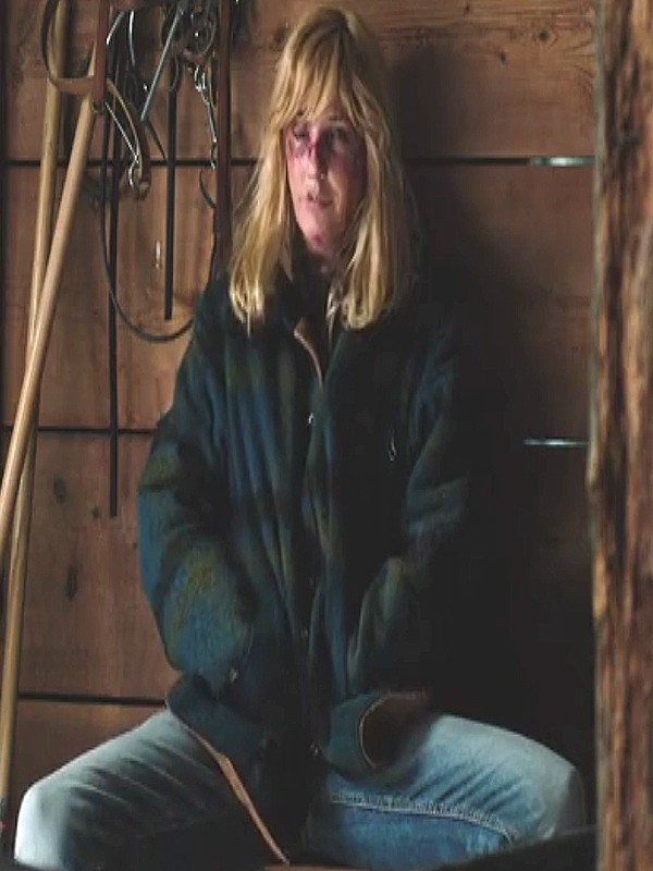 Kelly Reilly Yellowstone Beth Dutton Flannel Jacket