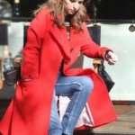 Love Life Anna Kendrick Red Wool Coat