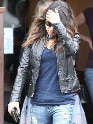 Black Mila Kunis Leather Jacket