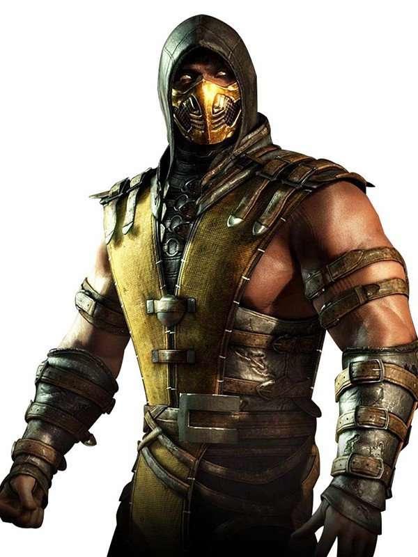 Mortal Kombat Scorpion Hooded Brown Leather Jacket
