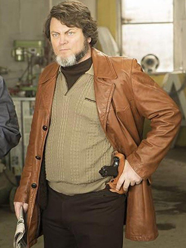 Nick Offerman Brown Blazer Jacket