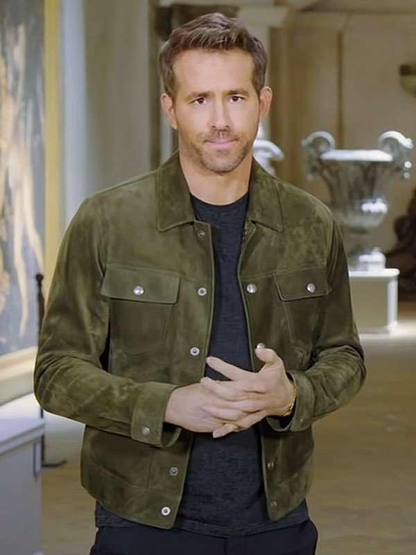 Ryan Reynolds Red Notice Green Jacket