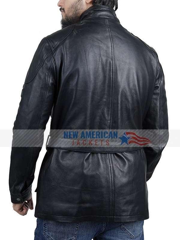 Sam Heughan Brown Leather Jacket