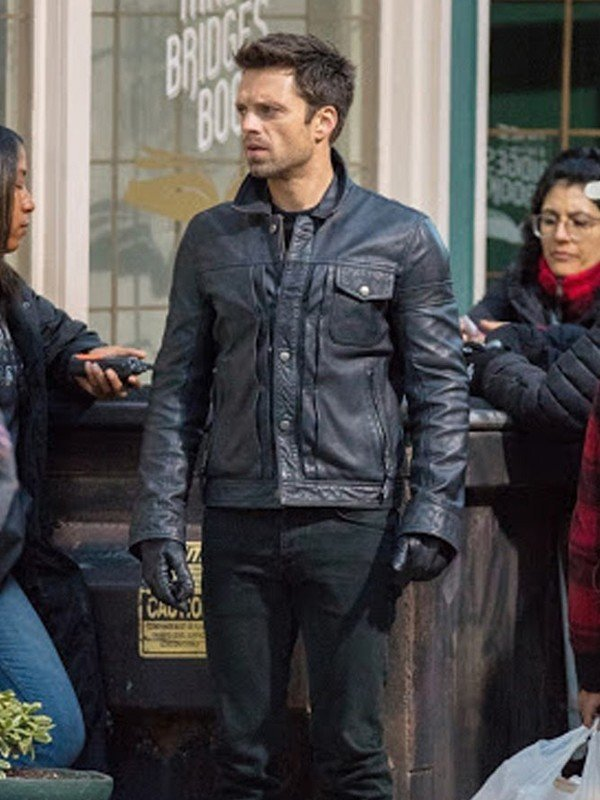 Sebastian Stan Black Jacket
