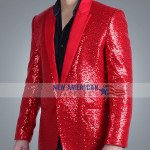 Super Bowl Show Weeknd Red Blazer