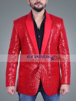 Super Bowl Show The Weeknd Red Blazer