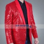 Super Bowl The Weeknd Red Blazer Coat