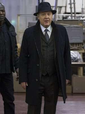 Raymond The Blacklist Black Trench Coat