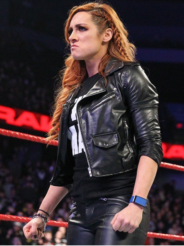 WWE Becky Lynch Motorcycle Leather Jacket