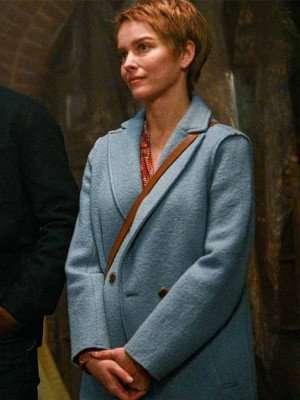 Maggie Bloom A Million Little Things Blue Wool Coat