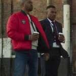 Aaron Bishop Bulletproof Red Bomber Jacket