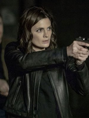 Absentia Emily Byrne Black Leather Jacket