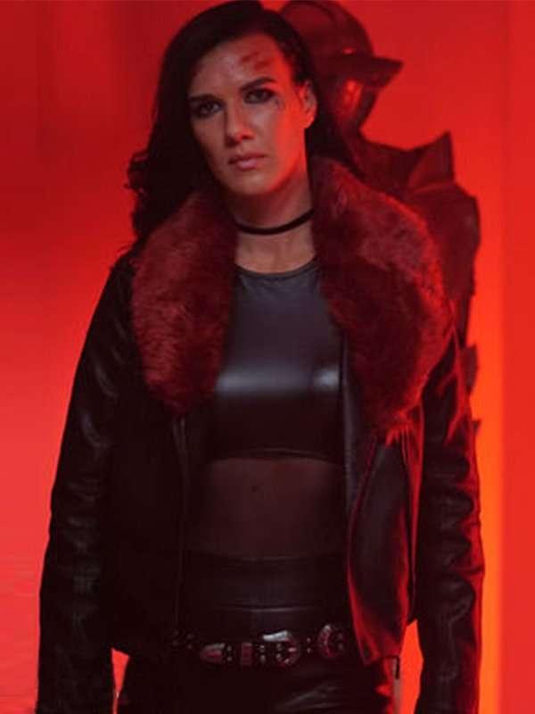 Acceleration Natalie Burn Black Leather Jacket