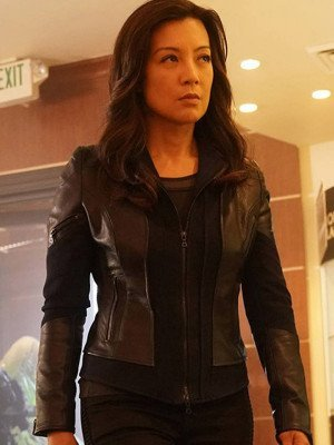 Ming-Na Wen Leather Jacket