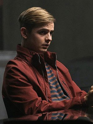 Alex Rider Otto Farrant Red Bomber Jacket