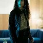 Alice Braga Black Leather Jacket