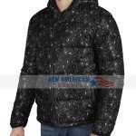 Bandana Black Puffer Jacket