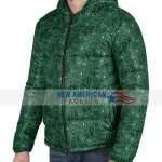 Bandana Green Puffer Jacket