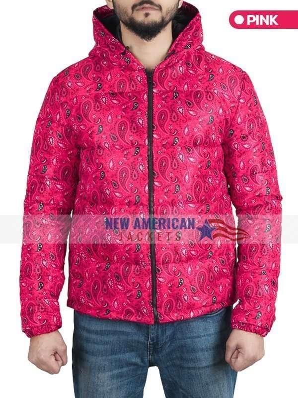 Bandana Pink Puffer Jacket