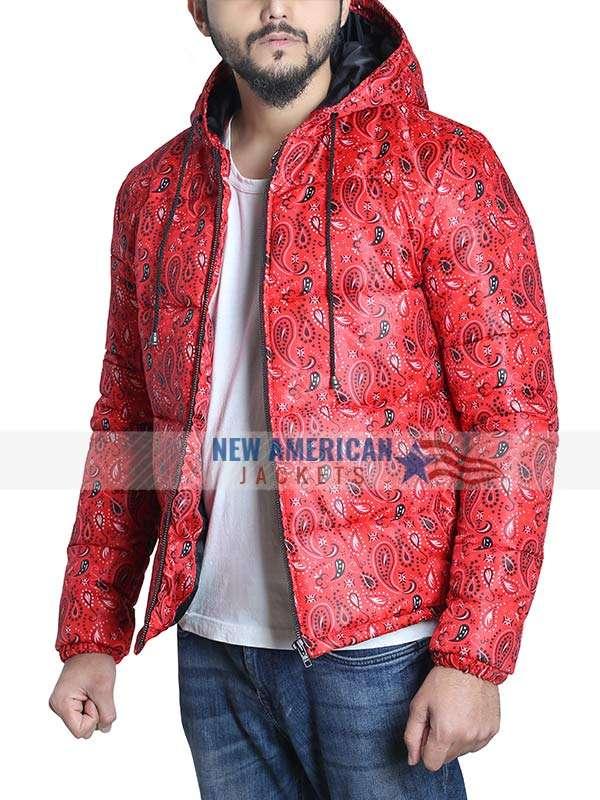 Bandana Red Puffer Jacket