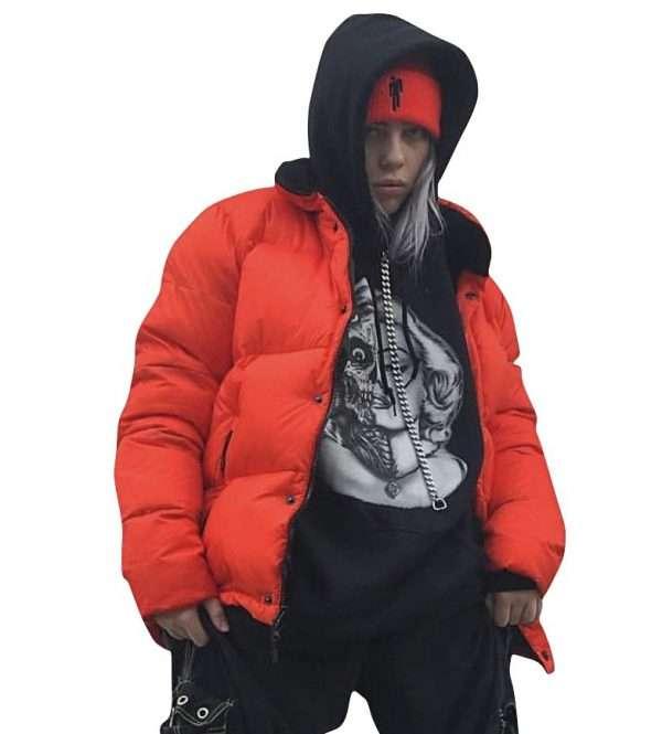 Billie Eilish Orange Jacket