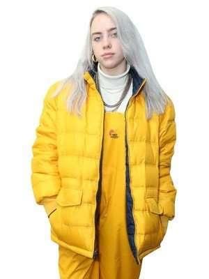 Billie Eilish Yellow Puffer Jacket