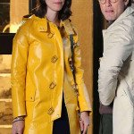 Connie Davidoff A Rainy Day in New York Yellow Coat