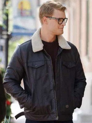 Adrian Spencer Dashing Home for Christmas Leather Jacket