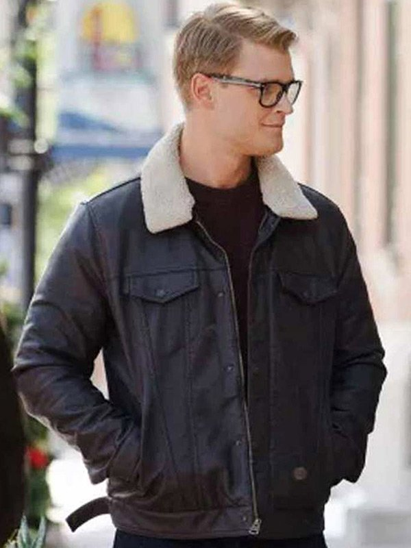Dashing Home for Christmas Adrian Spencer Leather Jacket