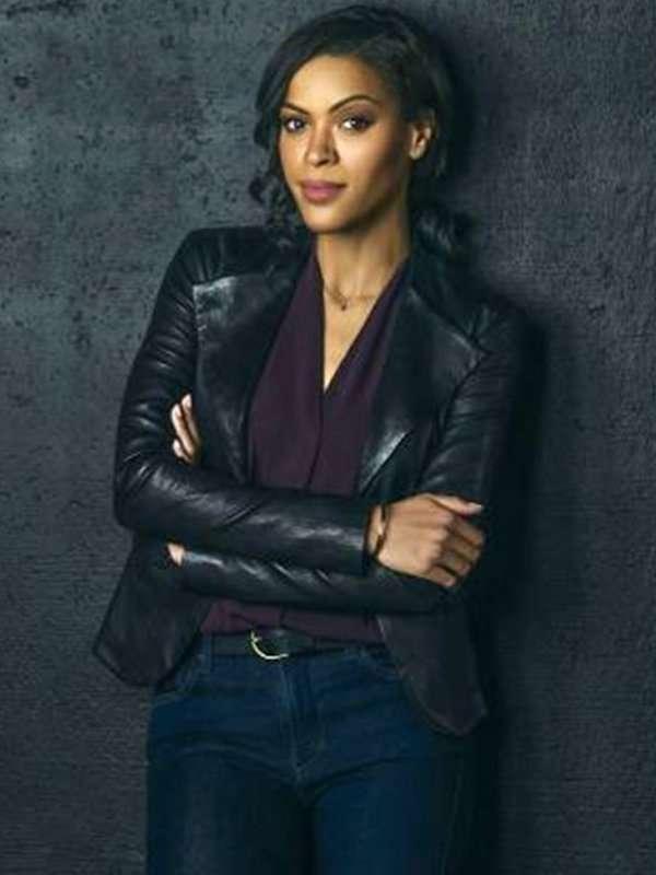 Detective Karen Hart Nancy Drew Alvina August Black Leather Jacket