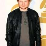 Ed Sheeran Black Leather Jacket