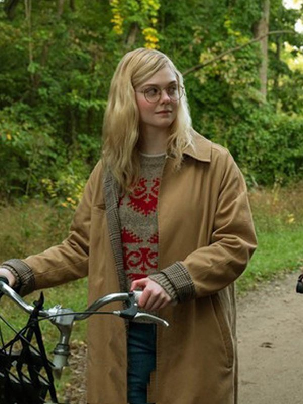 Elle Fanning All The Bright Places Brown Coat