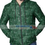 Green Bandana Puffer Jacket