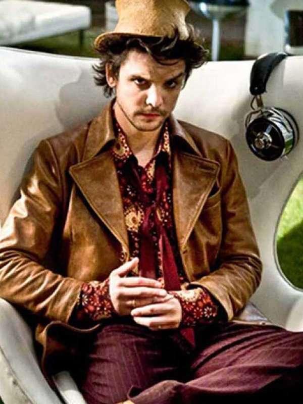 Hatter Alice Andrew Lee Potts Brown Leather Jacket