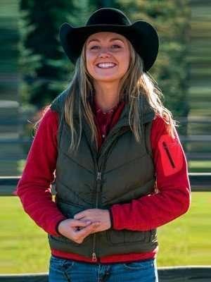 Heartland Amy Fleming Green Vest