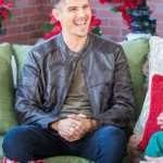 Joe-Peterson-A-Veterans-Christmas-Sean-Faris-Black-Leather-Jacket