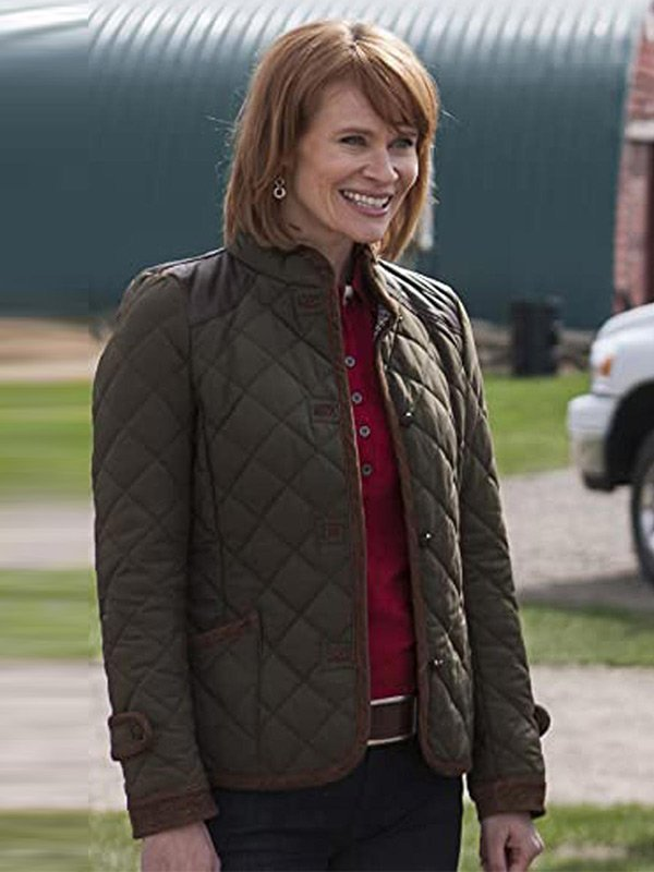 Kendra Heartland Green Quilted Jacket