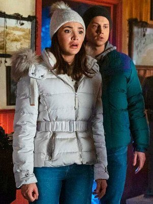 Nancy Drew Bess Marvin White Parka Jacket