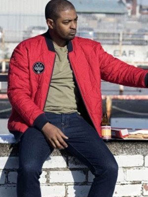 Noel Clarke Bulletproof Aaron Bishop Red Bomber Jacket