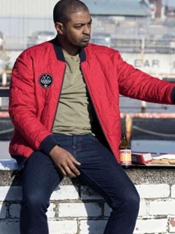 Noel Clarke Bulletproof Red Quilted Jacket